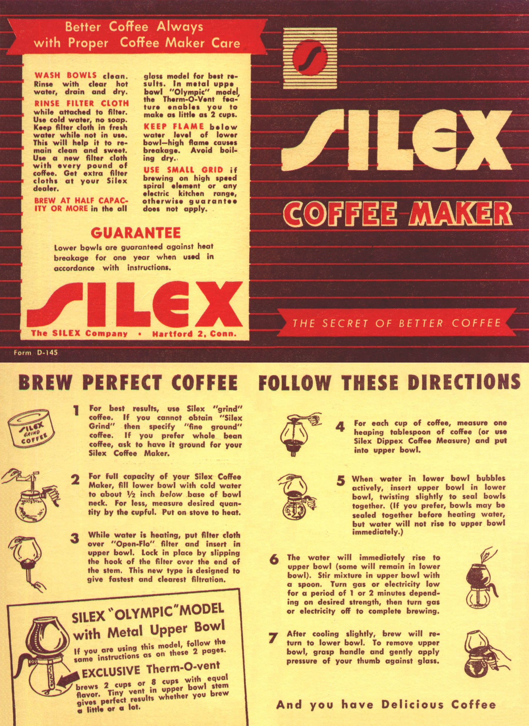 Vacuum Coffee Maker Instructions : Dennis M. Reed