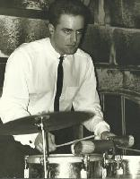 photo Guy Hoffman on timbales (photo from Rudi Petschek 20010601)