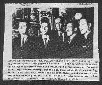photo from newspaper El Patio Opening Announcement (1964/05/21) ?(bass player before Harold),  									Califa, Guy