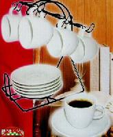 white porcelain espresso set